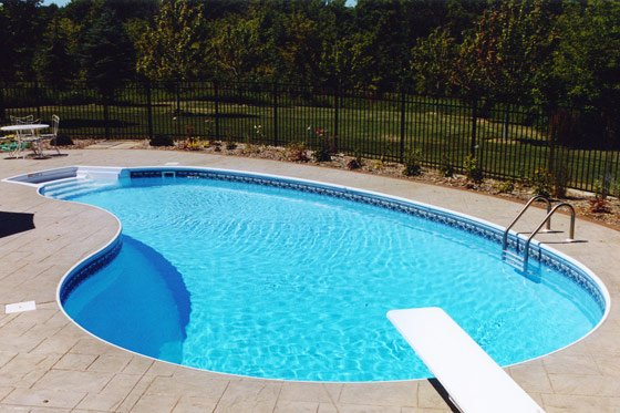 In ground swimming pool photos for Pool design mn